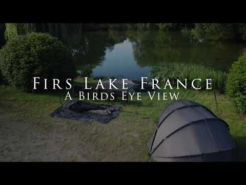 Carp Fishing In France With Accommodation - Firs Lake France A Birds Eye View