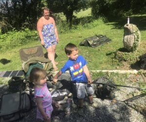 family carp fishing holiday france getting the kids involved
