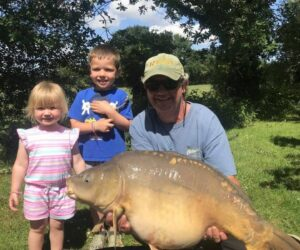 mirror carp family fishing holiday france